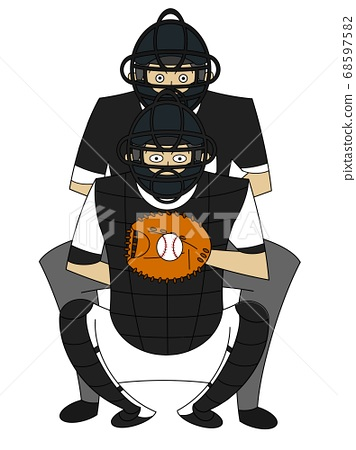 Catcher and ball referee 68597582