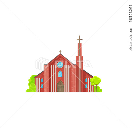 Monastery Christian religion building isolated 68598261
