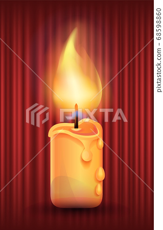 Candle with Bright Light Retro Style Curtains 68598860