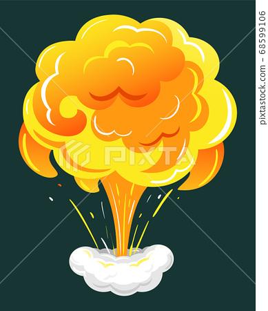 Dynamite Burst or Bomb Explosion Visual Effect 68599106