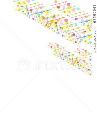 화려한 도트 무늬 질감 68599645