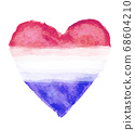 荷蘭國旗與心符號 68604210
