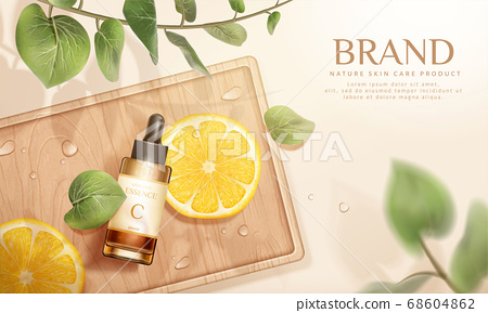 Skin care product ad template 68604862