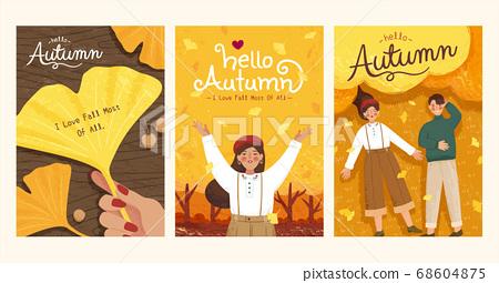 Romantic autumn cover design 68604875