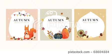 Set of autumn illustrations 68604884