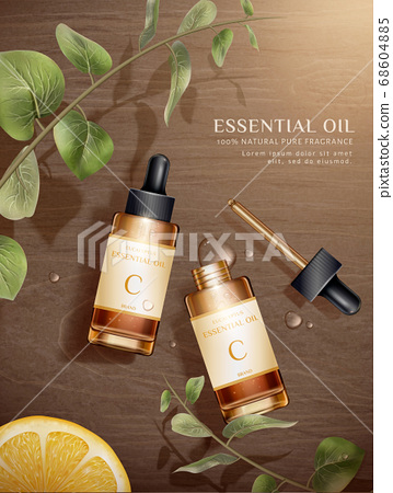 Skin care product ad template 68604885