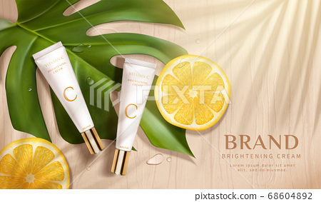 Skin care product ad template 68604892