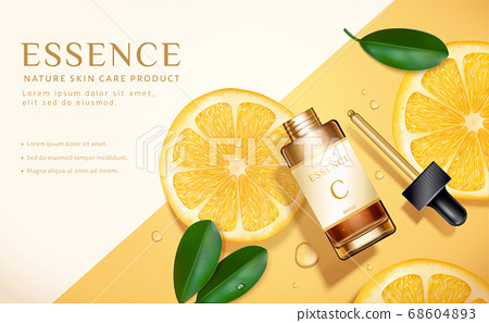 Skin care product ad template 68604893