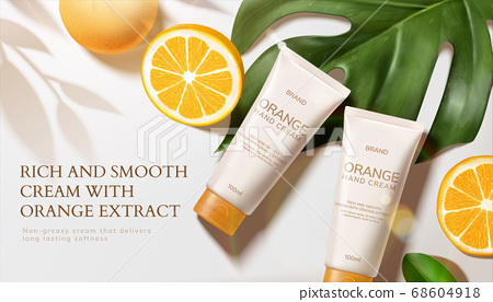 Skin care product ad template 68604918