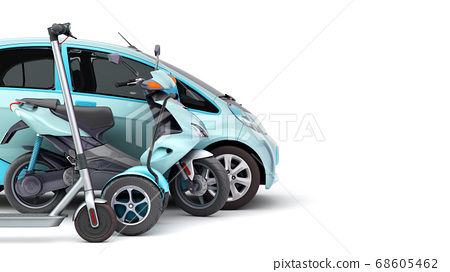 concept of individual electric transport different 68605462