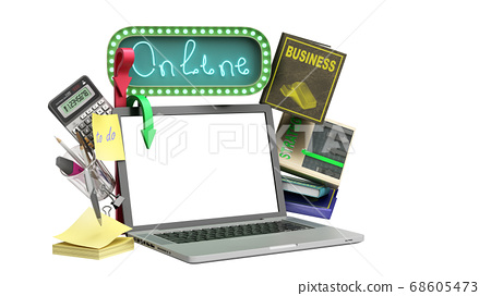 online business training concept emty screen 68605473