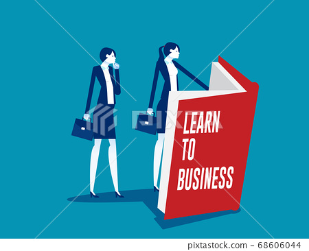 A business person learning to business for a 68606044