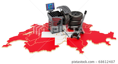 Tire Fitting and Auto Service in Switzerland 68612487