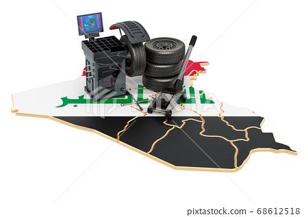 Tire Fitting and Auto Service in Iraq concept 68612518