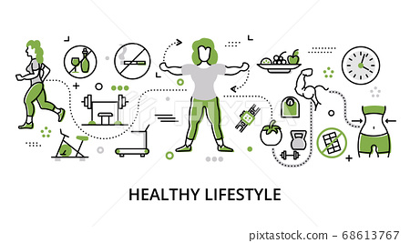Greenery concept of healthy lifestyle and 68613767