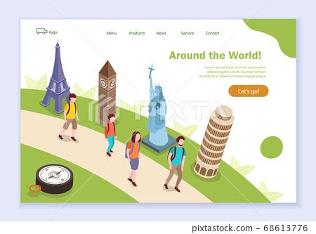 Concept of around the world, creative website 68613776