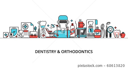 Concept of dentistry and orthodontics 68613820