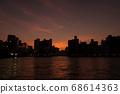 Yanagibashi in the setting sun 68614363