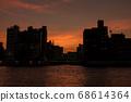 Yanagibashi in the setting sun 68614364