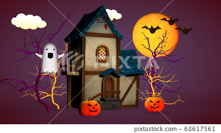 Halloween holiday concept. A small house with 68617561