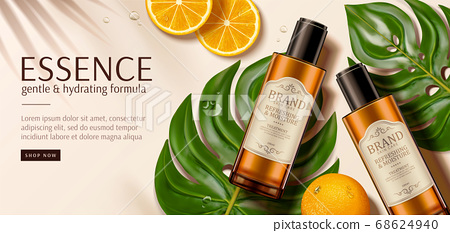 Luxury skincare product ad template 68624940