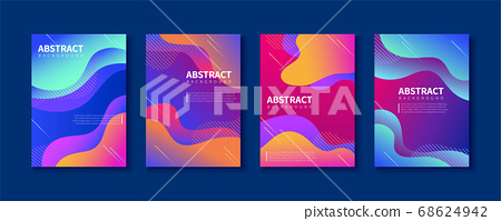 Abstract brochure template design 68624942