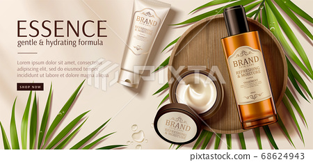 Luxury skincare product ad template 68624943
