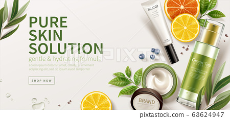 Natural skincare product ad 68624947
