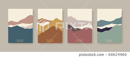 Nordic style cover template set 68624960