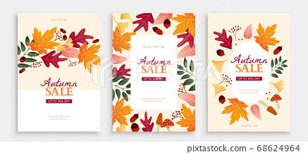 Autumn foliage cover template 68624964