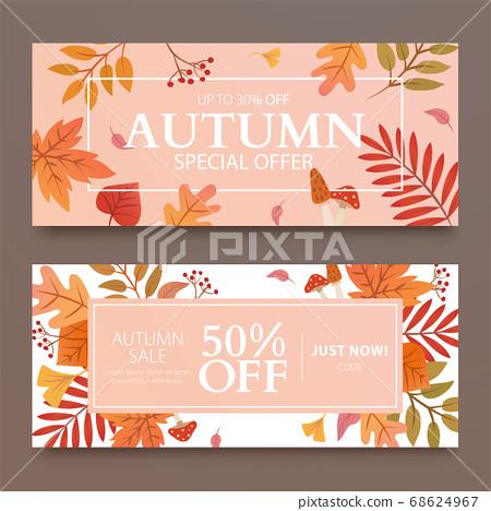 Autumn foliage banner template 68624967