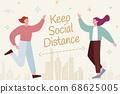 Social distancing illustration 68625005