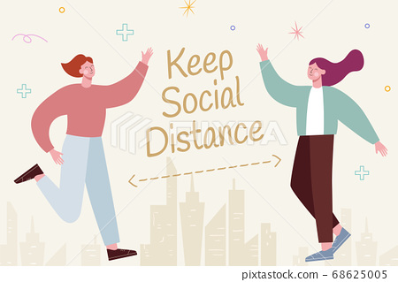 Social distancing illustration 68625005