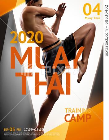 Muay Thai training camp poster 68630402