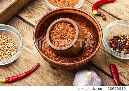 Dry adjika condiment 68630819
