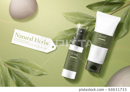 Healthy beauty product ad template 68631733