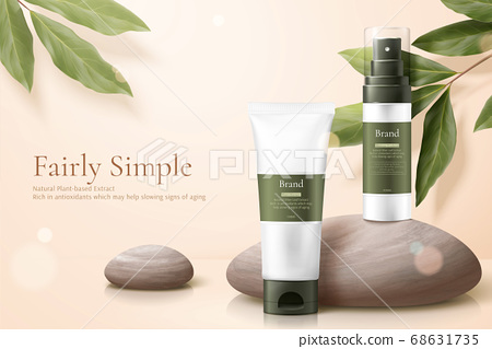 Healthy beauty product ad template 68631735