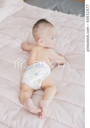 Modern young family concept, young mother and father with newborn 057 68632877