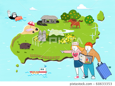 Tourist attractions in South Korea illustration 007 68633353