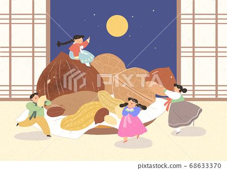 Korea traditional play in flat design illustration 002 68633370