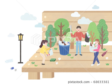 Ecology and biology concept, Green city Eco life illustration 007 68633381