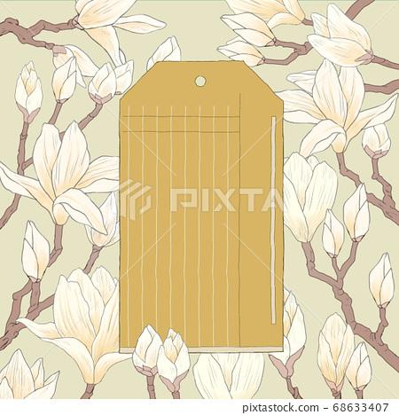 Flower frame design. floral background illustration 007 68633407