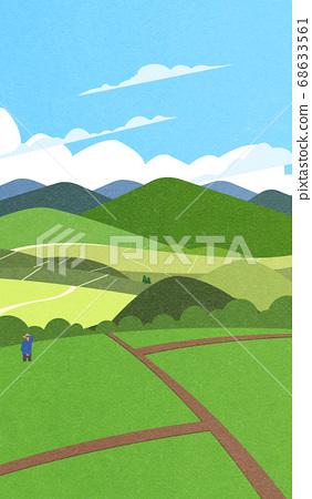 Beautiful summer landscape illustration 007 68633561