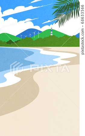 Beautiful summer landscape illustration 009 68633566