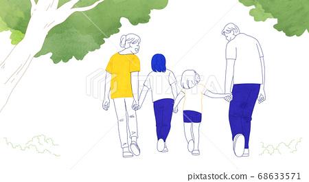 Happy and loving family hand drawn illustration 005 68633571