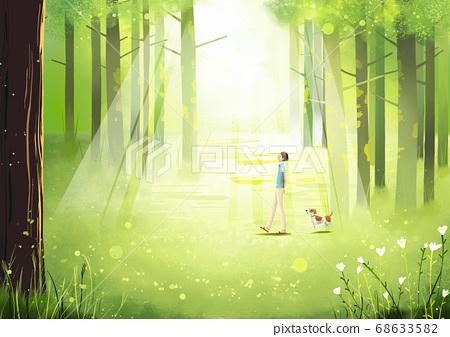 Summer fantasy forest landscape illustration 002 68633582