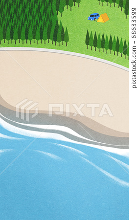 Beautiful summer landscape illustration 003 68633599