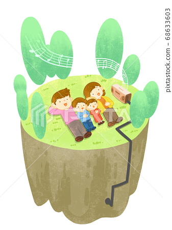 Green eco energy concept. Green earth illustration 007 68633603