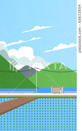 Beautiful summer landscape illustration 008 68633604