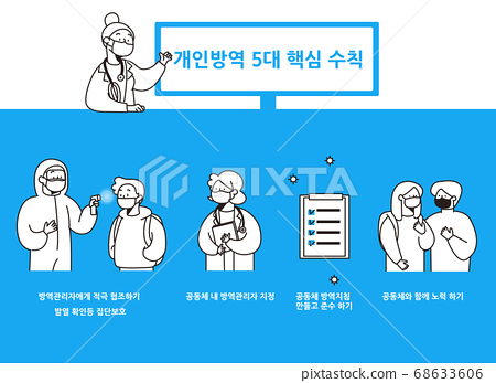 Social distancing, keep distance in public society people to protect from COVID-19 illustration 012 68633606